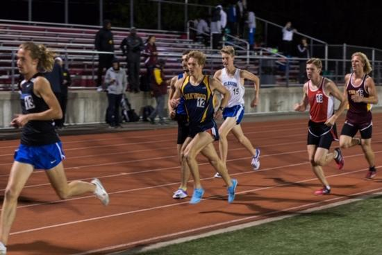 Athlete of the Month Kyle Lethander running on track