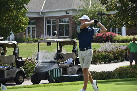 Jonah Cunningham playing golf.