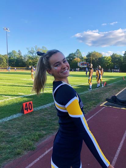Julianna Hoffman cheering