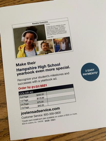 Yearbook Ads for Students